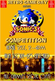 Next game up on Retro Game Day is Sonic 3!