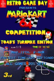 Mario Kart 64 Competition at Half Price Books Retro Game Day Tomorrow!